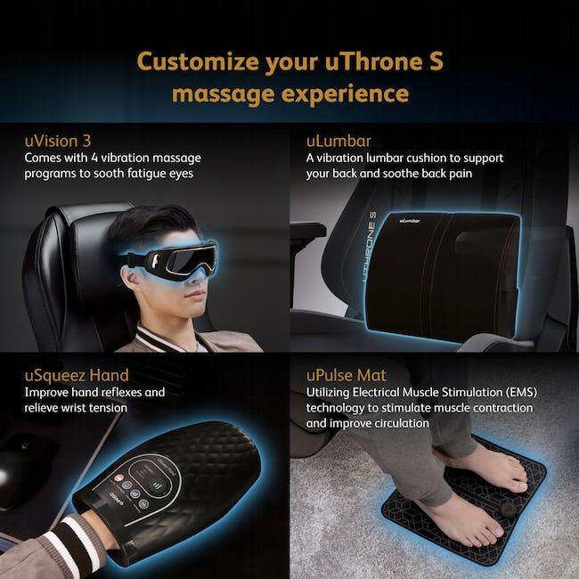 OSIM x Marvel uThrone S Massage Chair with Customizable Massage - Self Assembled - Black - 10