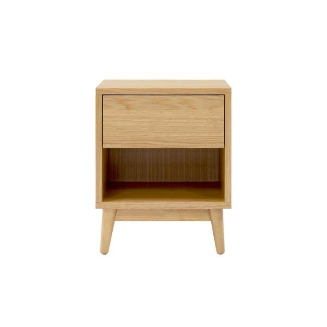 Kyoto Top Drawer Bedside Table - Oak - 4