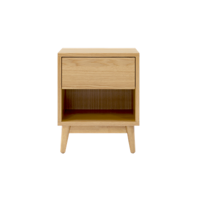 Kyoto Single Drawer Bedside Table - Oak - Image 2
