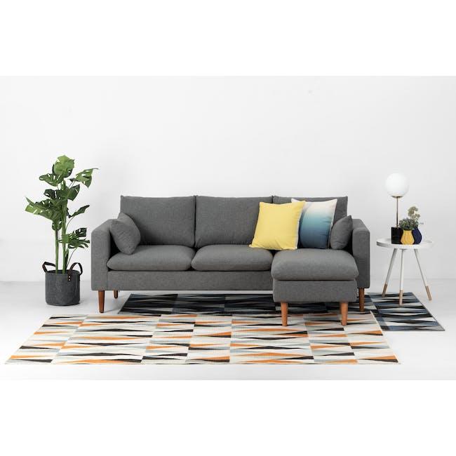 Alicia L-Shaped Sofa - Charcoal Grey - 5