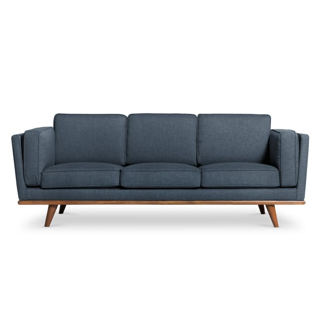 Carter 3 Seater Sofa - Space Blue - 0