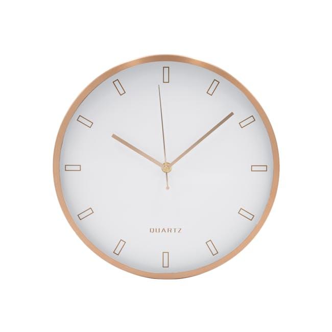 Pellicano Wall Clock - White, Copper - 0