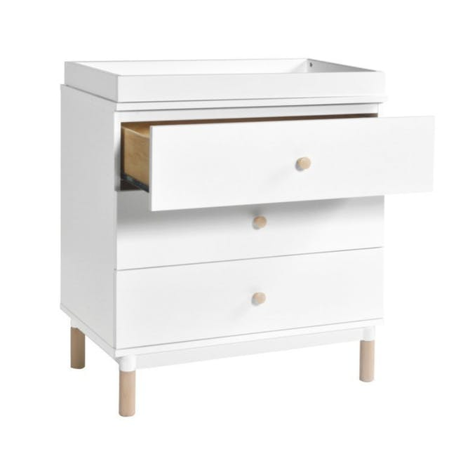 Babyletto Gelato 3-Drawer Dresser with Removable Changing Tray - White - 3