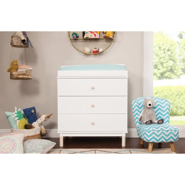 Babyletto Gelato 3-Drawer Dresser with Removable Changing Tray - White - 1