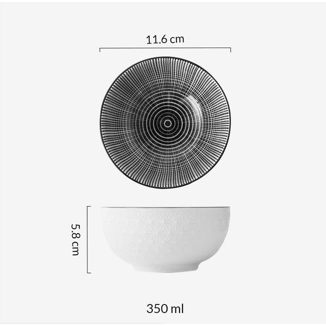 Table Matters Scattered Lines Bowl (3 Sizes) - 5