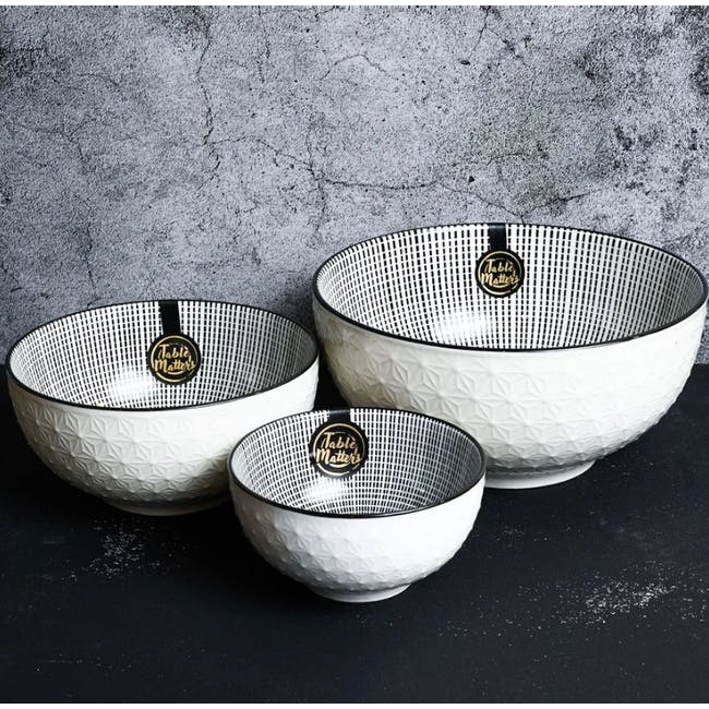 Table Matters Scattered Lines Bowl (3 Sizes) - 2