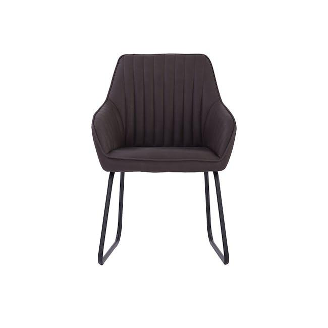 Edson Dining Armchair - Mocha (Faux Leather) - 2