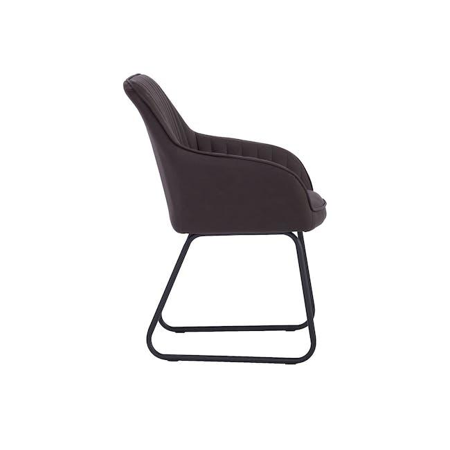 Edson Dining Armchair - Mocha (Faux Leather) - 3