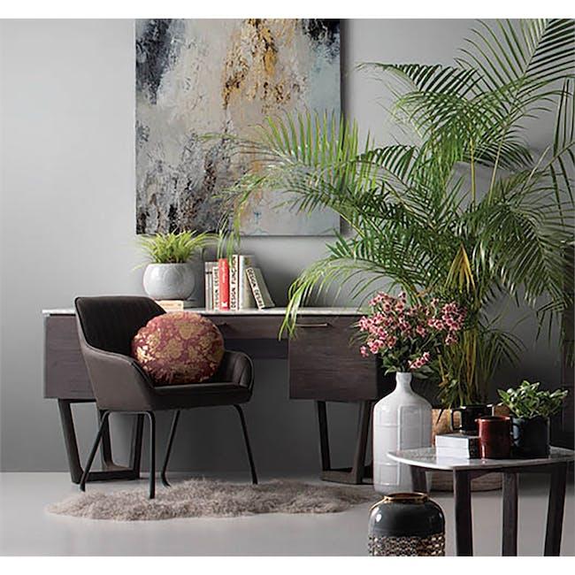 Edson Dining Armchair - Mocha (Faux Leather) - 1