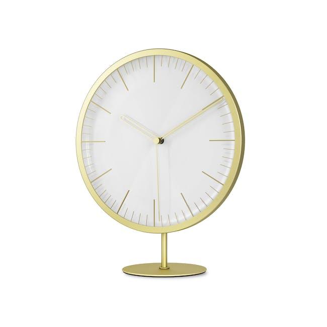 Infinity Round Clock - Brass - 2