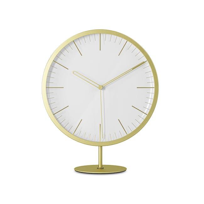 Infinity Round Clock - Brass - 0