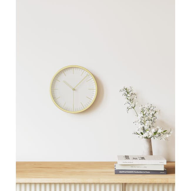 Infinity Round Clock - Brass - 10