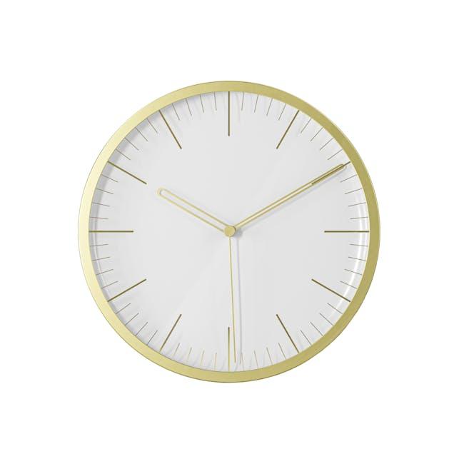Infinity Round Clock - Brass - 6