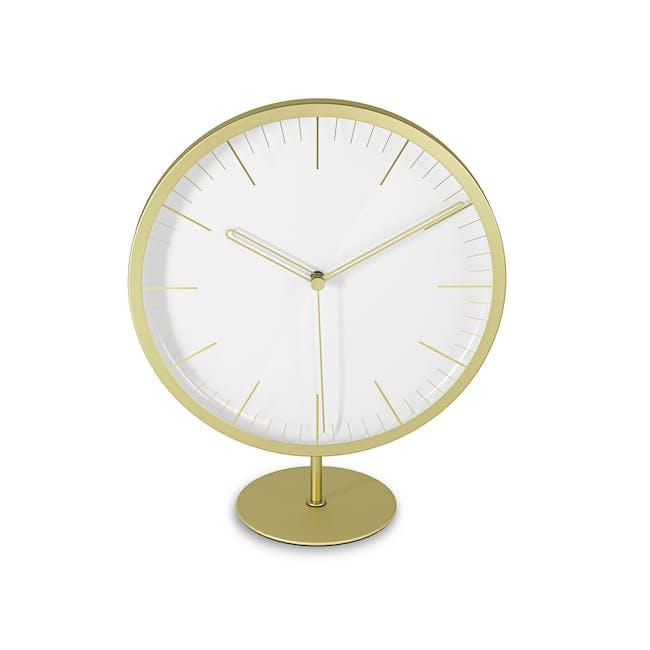 Infinity Round Clock - Brass - 4