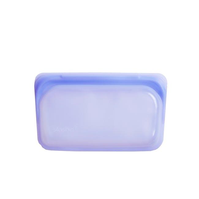 Stasher Reusable Silicone Bag - Snack - Amethyst - 3