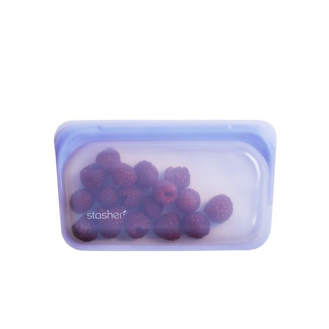Stasher Reusable Silicone Bag - Snack - Amethyst - 0