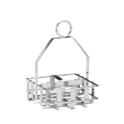Small Chrome Rack for Salt & Pepper Bottle and Sugar Packs - Image 1