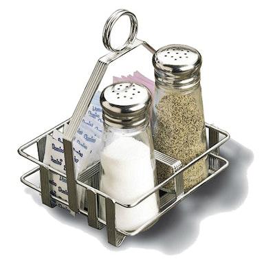 Small Chrome Rack for Salt & Pepper Bottle and Sugar Packs - Image 2