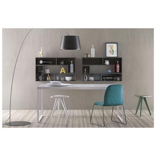 Ava Dining Chair - Matt Black, Tangerine - 11