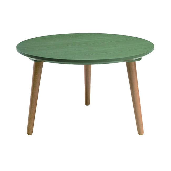 Carsyn Round Coffee Table - Pickle Green - 0