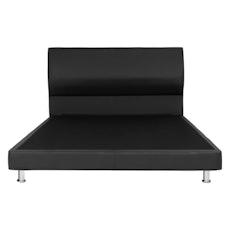 Sydney Headboard Bed - Black (Faux Leather)