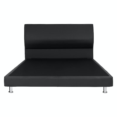 Sally Headboard Bed - Black (Faux Leather)