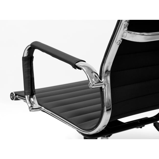 (As-is) Eames Mid Back Office Chair - Black (PU) - 12 - 23