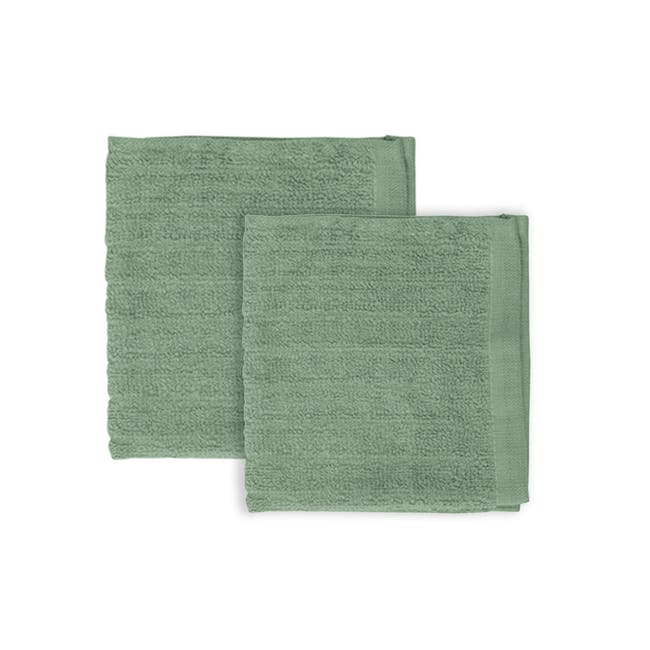 EVERYDAY Face Towel - Sage (Set of 2) - 0