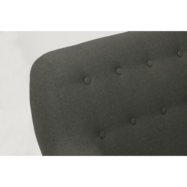Emma 3 Seater Sofa with Emma Armchair - Raven - 6