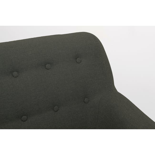 Emma 3 Seater Sofa with Emma Armchair - Raven - 7