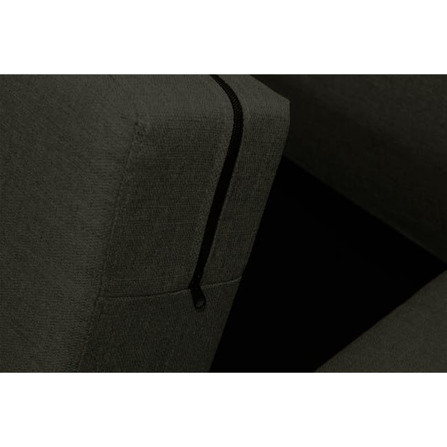Emma 3 Seater Sofa with Emma Armchair - Raven - 9