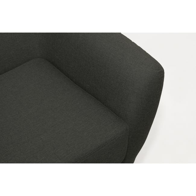 Emma 3 Seater Sofa with Emma 2 Seater Sofa - Raven - 8