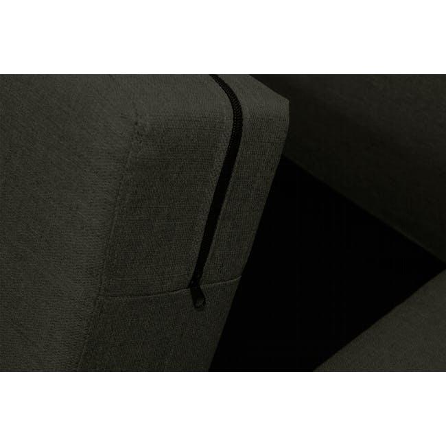 Emma 3 Seater Sofa with Emma 2 Seater Sofa - Raven - 9