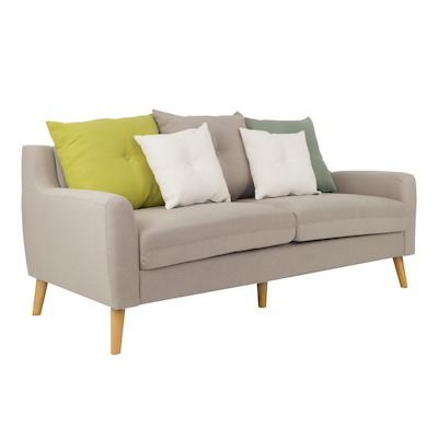 Evan 3 Seater Sofa w/ Cushions - Sand