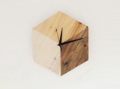 Scandinavian Hexagon Clock