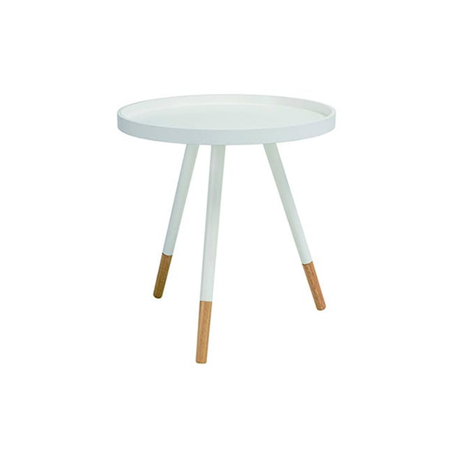 Avery Coffee Table in White and Innis Coffee Table in White - 1