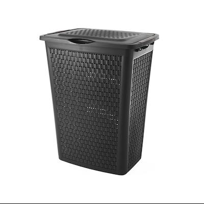 50L Laundry Hamper - Coffre Black - Image 2