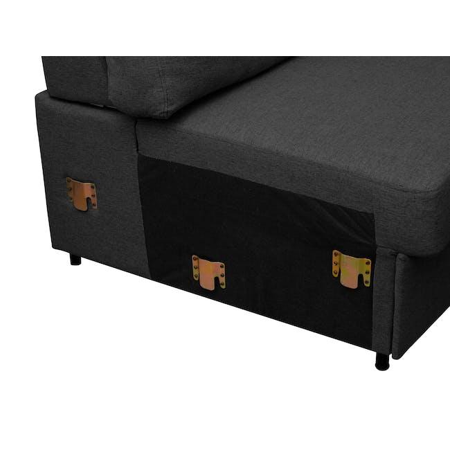 Mia L-Shaped Storage Sofa Bed -  Graphite - 10