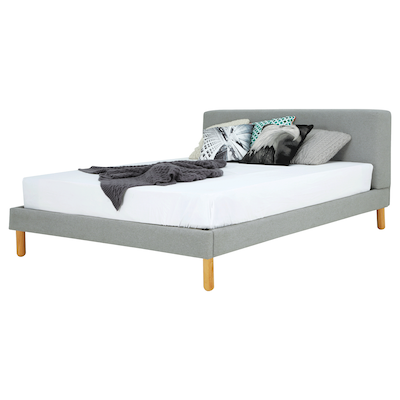 Zeus Queen Bed - Pale Silver - Image 2