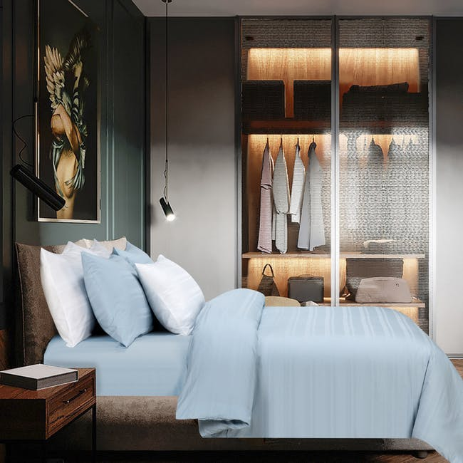Marie Claire Morpheus Dobby Bed Set - Bleuler (2 Sizes) - 0