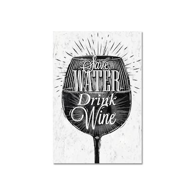 Drink Wine Print Poster - Image 1