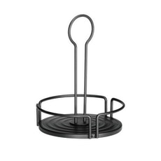 Round Powder Coated Metal Condiment Rack