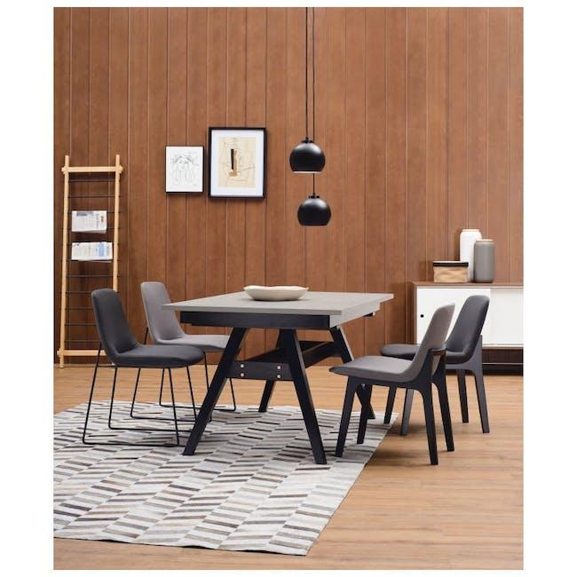 Aurora Dining Chair - Matt Black, Jade - 4