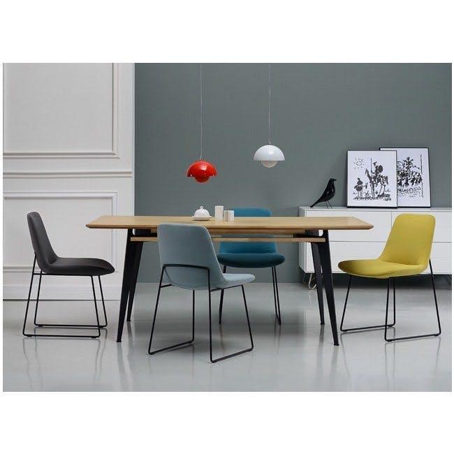 Aurora Dining Chair - Matt Black, Jade - 3