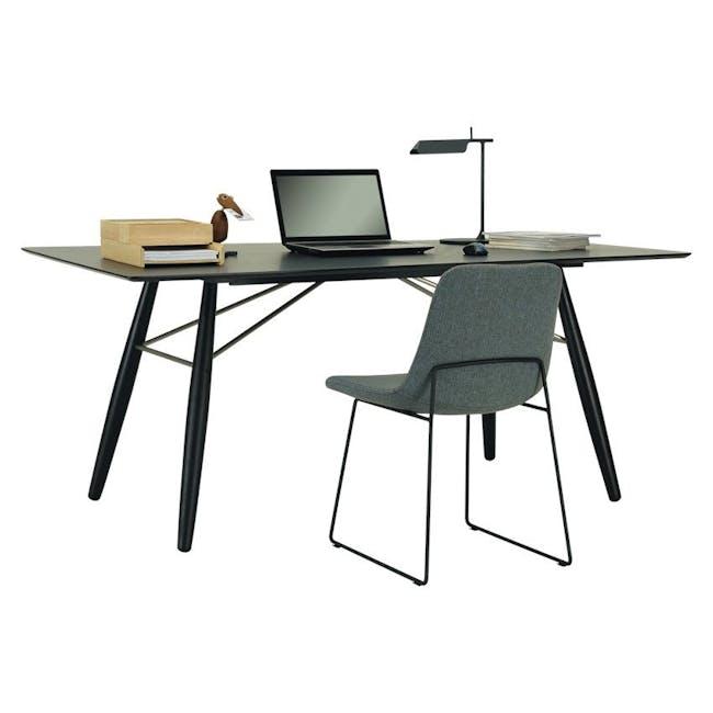 Aurora Dining Chair - Matt Black, Jade - 2