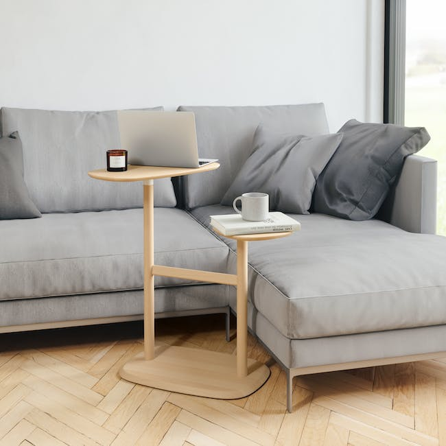 Nora Rattan Coffee Table with Swivo Side Table - 11