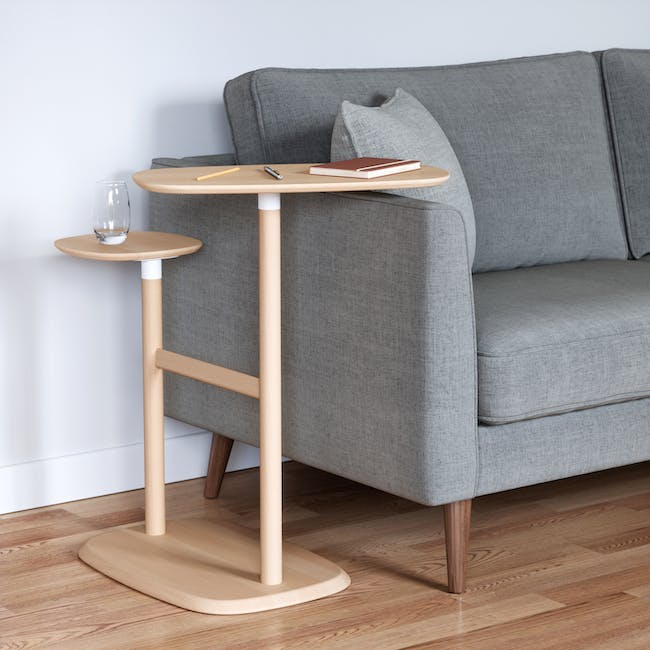 Nora Rattan Coffee Table with Swivo Side Table - 12
