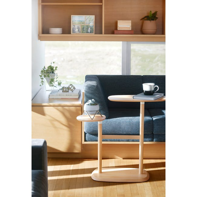 Nora Rattan Coffee Table with Swivo Side Table - 1