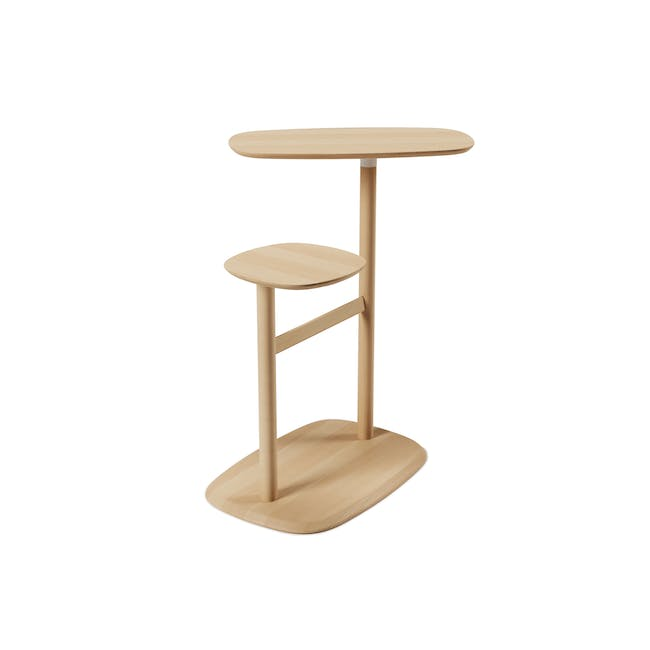 Nora Rattan Coffee Table with Swivo Side Table - 4
