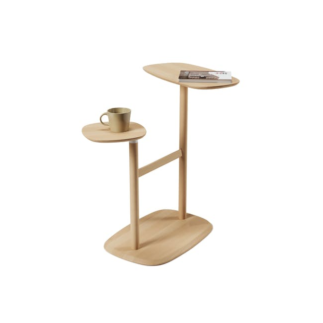 Nora Rattan Coffee Table with Swivo Side Table - 5